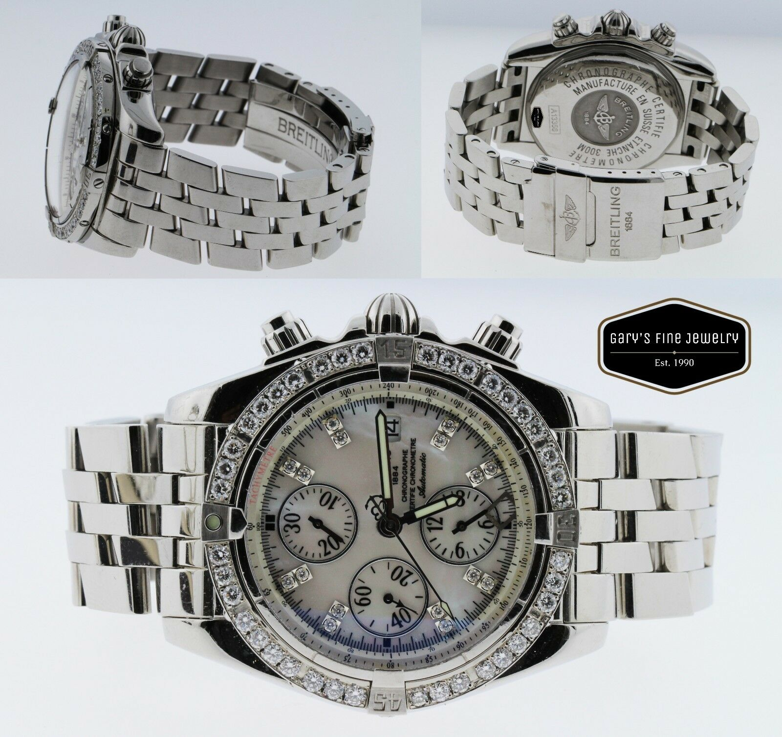 Breitling Evolution Chronomat A13356 SS 43MM White Dial Men's Customized Watch