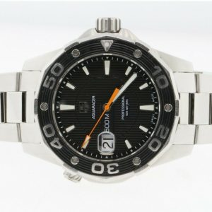 Tag Heuer Aquaracer Black Dial Stainless Steel 43mm Men's Watch WAJ1110.BA0870