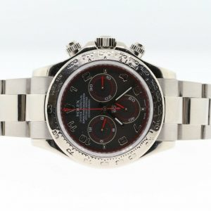 2005 Rolex Daytona Cosmograph 116509 Black Racing Dial 18k White Gold Watch