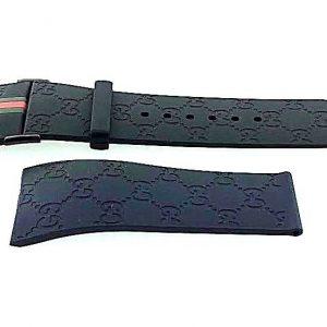 I Gucci 26mm Genuine Replacement Black Rubber Strap Men's I Gucci YA114207 Watch