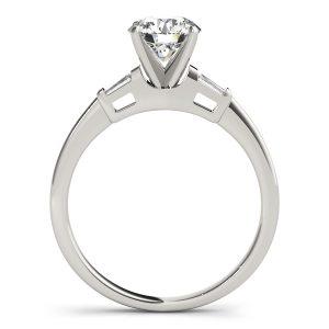 Rebecca Elegant Diamond 3-Stone Baguette Engagement Ring (Platinum)