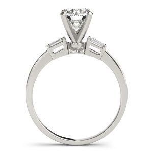 Eleanor Elegant Diamond 3-Stone Baguette Engagement Ring (Platinum)