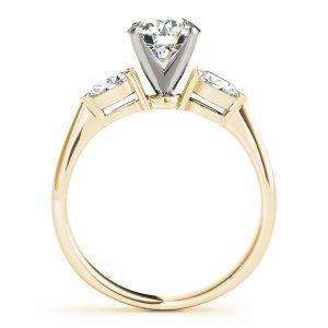 April Diamond Pear & Round Brilliant 3-Stone Engagement Ring (18k Yellow Gold)
