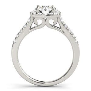 Felicia Cushion Halo Diamond Engagement Ring  (Platinum)