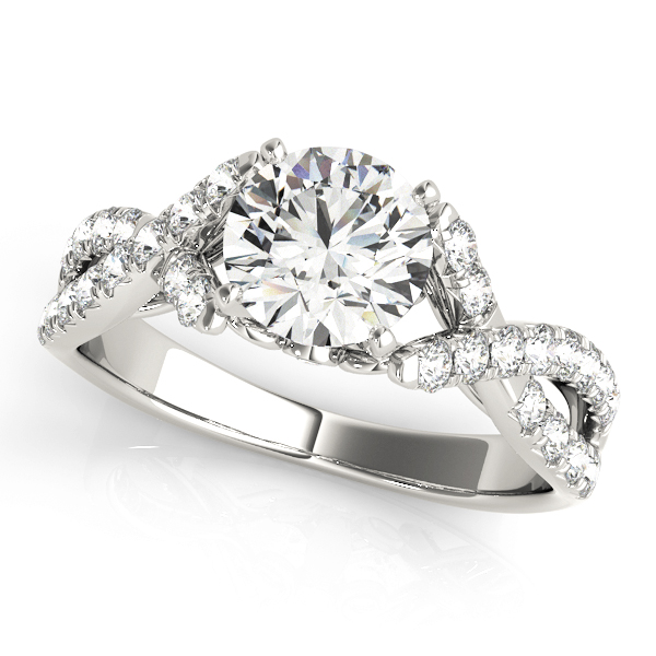 Diedre Cathedral Vintage Style Open Braid Engagement Ring (Platinum)