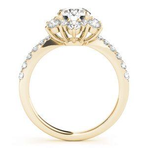 Azalea Diamond Flower Cluster Engagement Ring (18k Yellow Gold)