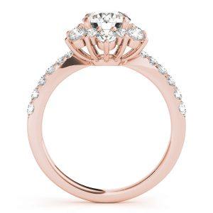 Azalea Diamond Flower Cluster Engagement Ring (18k Rose Gold)