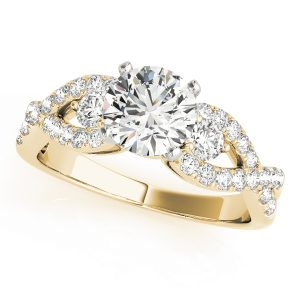 Alora Diamond Infinity Twist 3-Stone Engagement Ring (18k Yellow Gold)