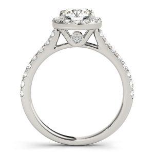 Elsa Secret Diamond Halo Medallion Cathedral Engagement Ring  (Platinum)