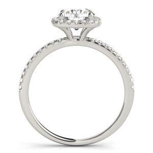 Fernanda Petite Diamond Halo Engagement Ring (Platinum)