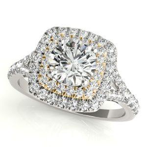 Cassandra Diamond Layered Halo Engagement Ring (18k Yellow Gold)