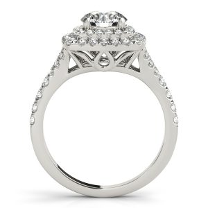 Cassandra Diamond Layered Halo Engagement Ring (Platinum)