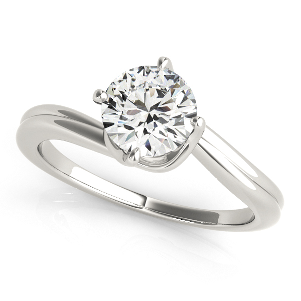 Gracy Twisted Double Bypass Diamond Solitaire Engagement Ring (Platinum)