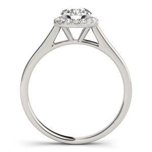 Dawn Petite Diamond Halo Engagement Ring (Platinum)