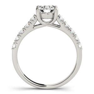 Evelyn Diamond Basket Cathedral Engagement Ring (Platinum)