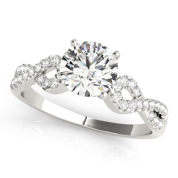 Everly Diamond Infinity Ribbon Twist Engagement Ring (Platinum)