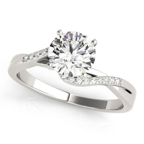 Lenora Diamond Cascade Double Bypass Engagement Ring (Platinum)