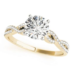 Bernadette Luxe Diamond Cathedral Twist Engagement Ring (18k Yellow Gold)