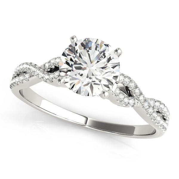 Bernadette Luxe Diamond Cathedral Twist Engagement Ring (Platinum)