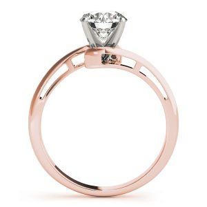 Alexis Waterfall Swirl Bypass Diamond Solitaire Engagement Ring (18k Rose Gold)