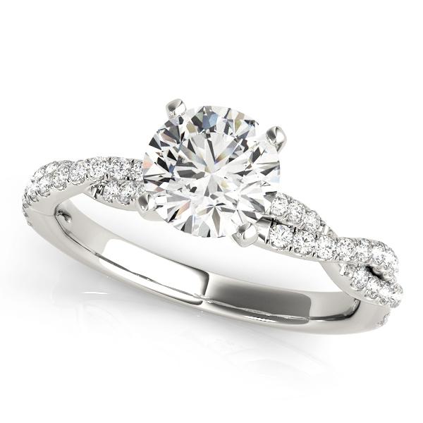 Lilian Ultimate Grace Diamond Solitaire Twist Engagement Ring (Platinum)