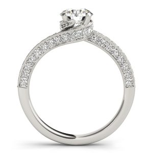 Dayana Diamond Solitaire Twisted Bypass Engagement Ring  (Platinum)