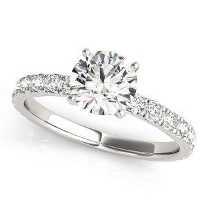 Diana Diamond Solitaire ¾ Eternity Engagement Ring (Platinum)