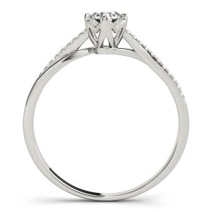 Daniela Diamond Petite Double Bypass Cathedral Engagement Ring (Platinum)