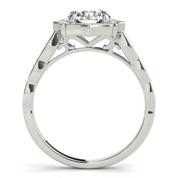 Angelica Art Deco Style Diamond Engagement Ring  (Platinum)